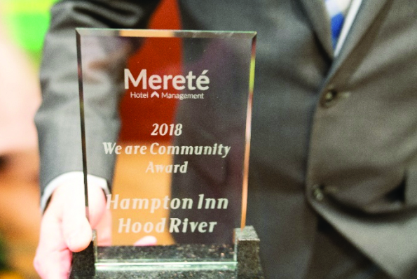 Hampton Inn and Suites by Hilton Hood River Wins Community Service Hotel of the Year